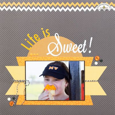 Doodlebug Design Inc Blog: Smash Up Challenge: Life is Sweet Layout by Corri