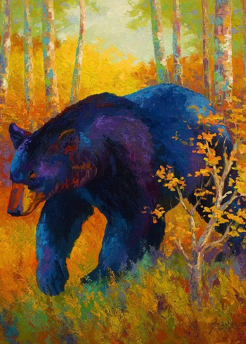 "In To Spring - Black Bear Greeting Card for Sale by Marion Rose. Our premium-stock greeting cards are 5"" x 7"" in size and can be personalized with a custom message on the inside of the card. All cards are available for worldwide shipping and include a money-back guarantee."