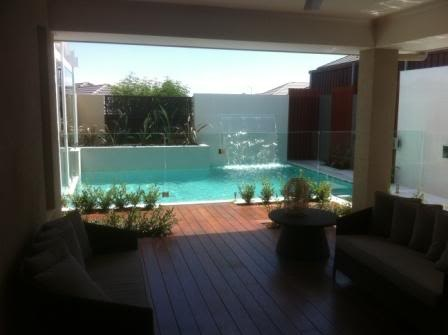 we could fit a little pool off our alfresco :)