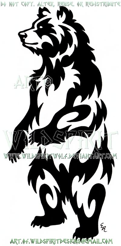 Standing Bear Tribal Design by WildSpiritWolf.deviantart.com on @DeviantArt