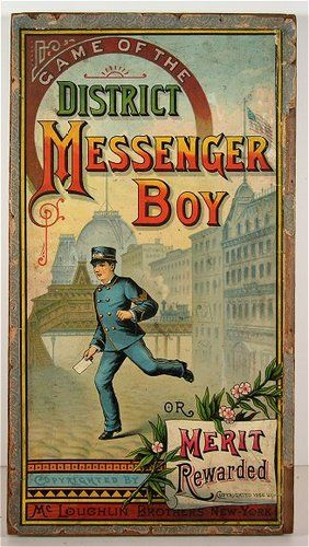 "Antique Game of the ""District Messenger Boy"" OR Merit Rewarded"