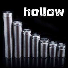 [ $33 OFF ] Dhl  Hollow Glass Fixing Screw Fasteners Glass Standoff Pin Nails Mirror Screw 1000Pcs/lot