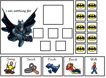 Autism Mavel Superhero Token Boards