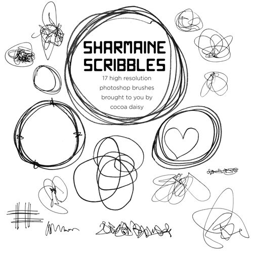 We have freebies galore for September! | Cocoa Daisy  Sharmaine's Scribbles -- free brush download. Awesome!