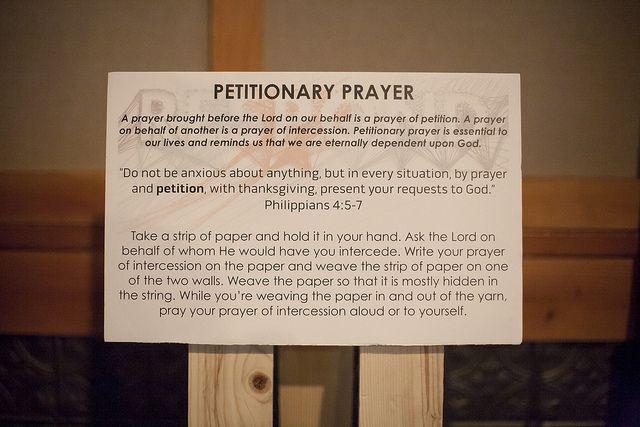 petitionary / intercession prayers