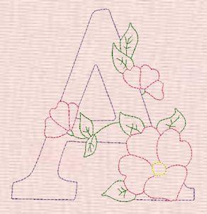 Oh my Alfabetos!: Alfabeto con flores bordado y para bordar.