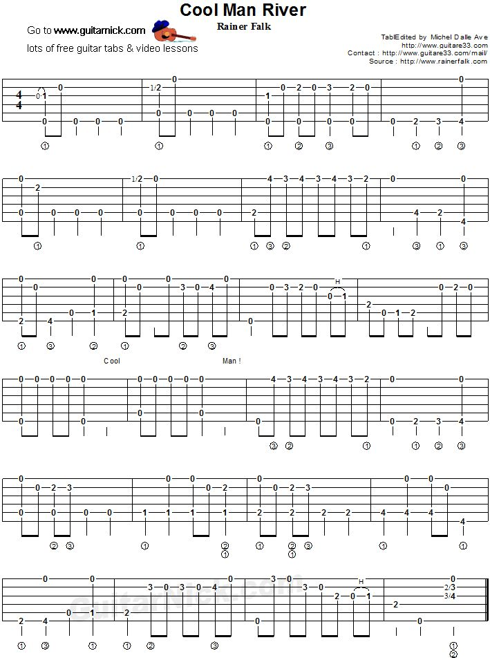 partition guitare 911tabs