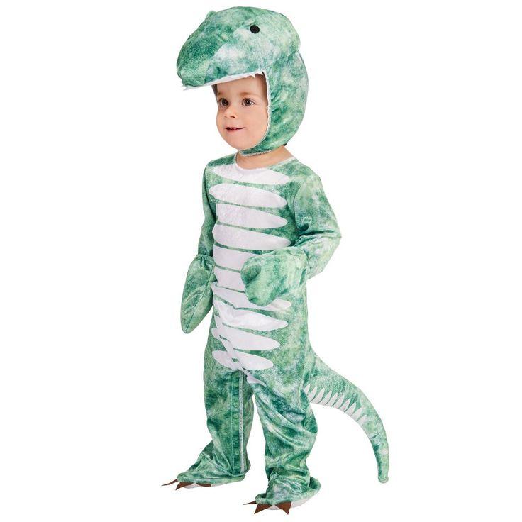 Ancient Tyrannosaurus Kids' Costume S, Boy's, Size: S(4-6), Green