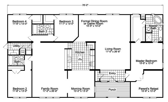 Gotham Home Scwd76f8 Floor Plan Manufactured And Or