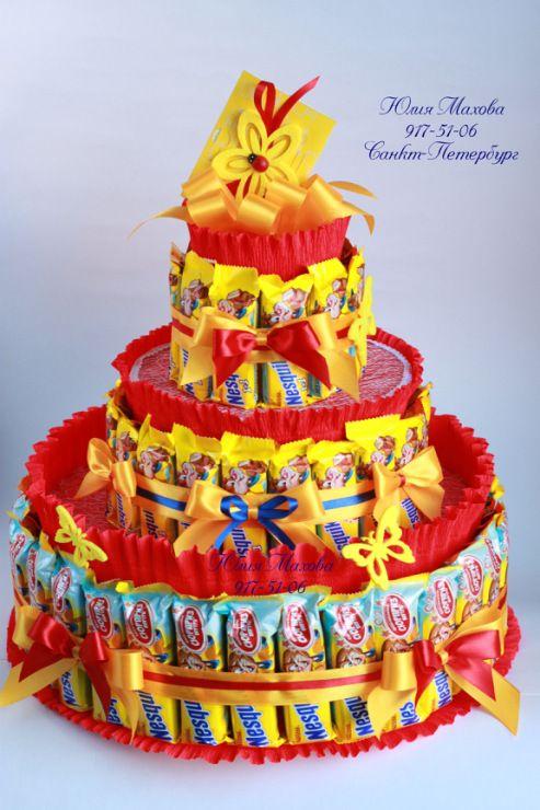 """Gallery.ru / Торт из шоколадок """"Несквик"""" - Торты и тортики из шоколада. - MamaYulia"""