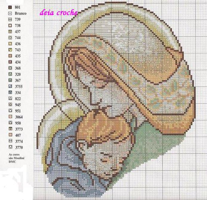 Schema punto croce Santa Vergine Gesu