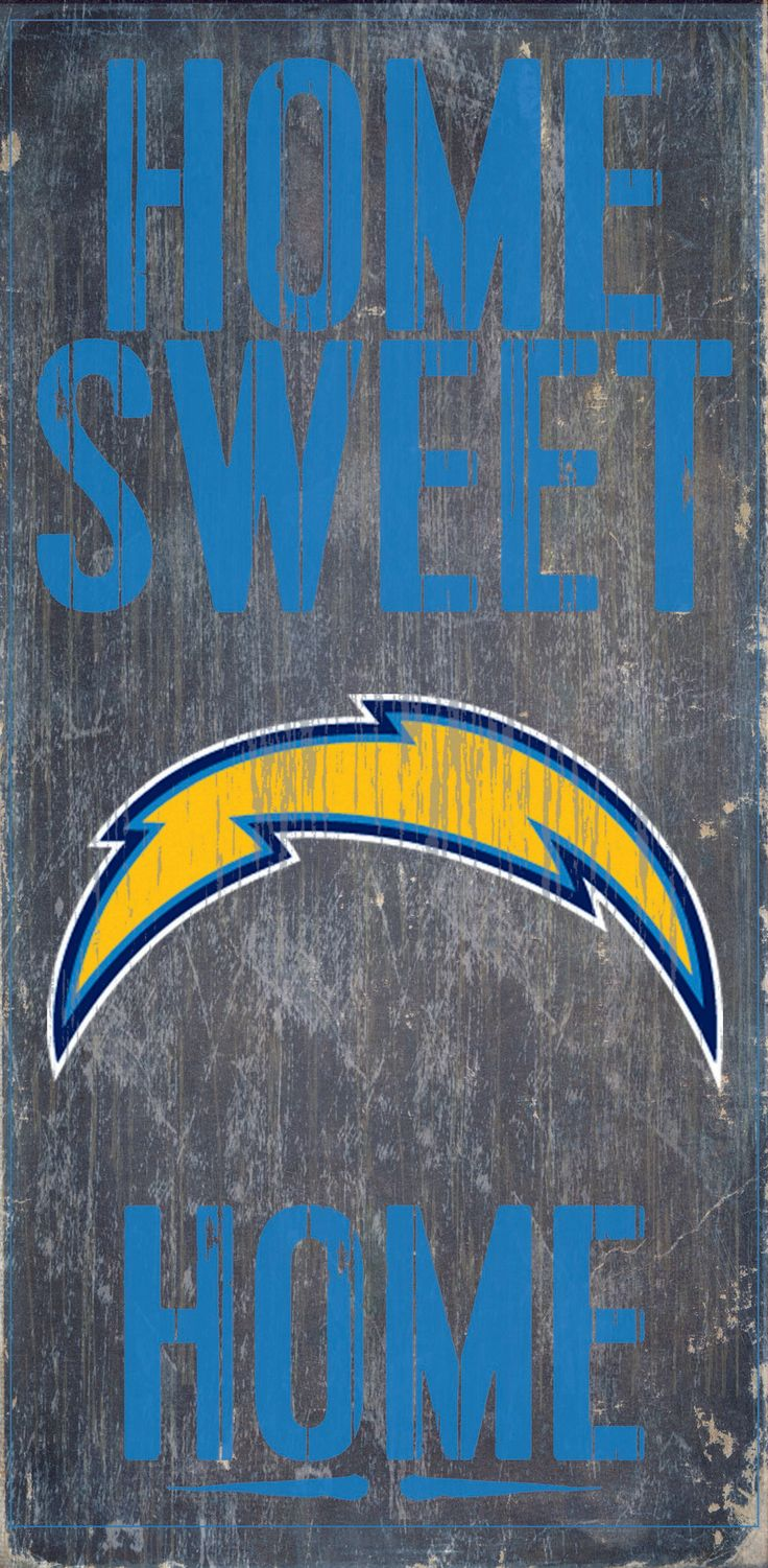 San Diego Chargers Wood Sign - Home Sweet Home 6x12