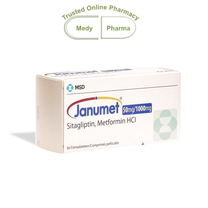 Buy Janumet 50/1000mg Online are used to treat Type 2 Diabetes Mellitus (T2DM), to improve glycaemic control (control of blood sugar levels).  T2DM (also known as non-insulin-dependent diabetes) is a disease characterised by high blood sugar levels that a