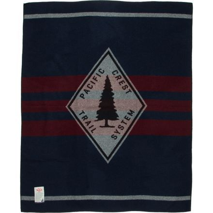 Remind yourself of your time long-distance hiking the Northwest with Woolrich's Pacific Crest Trail Jacquard Blanket, crafted in fine-grade wool for superior softness.