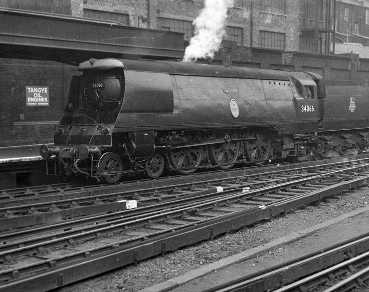 London Victoria Battle of Britain 34066 Spitfire l e April 54