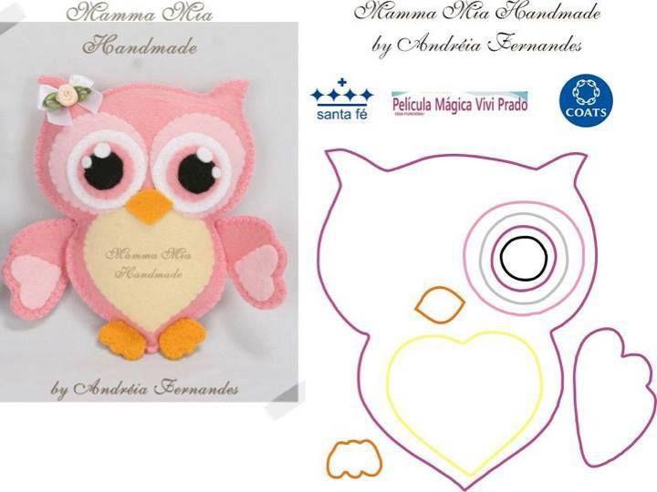25 Best Ideas About Felt Owl Pattern On Pinterest Crafts