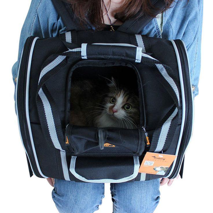 Ondoing Pet Backpack Rolling Travel Pet Carrier Dog Cat Microfiber Black Small Pets Walking