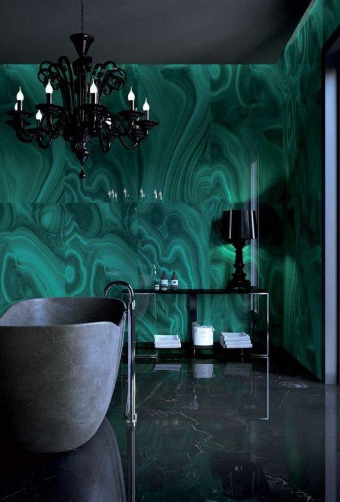 Les 25 meilleures idées de la catégorie Salles de bains vert foncé ...