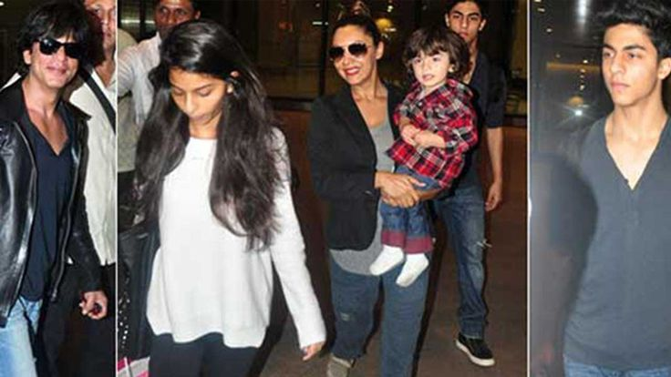 Spotted: Shah Rukh Khan With Gauri And Children Aryan, Suhana And AbRam