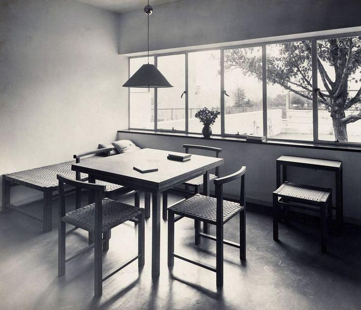 Wohnraumeinrichtung in einem der Häuser von J.J.P. Oud, Weissenhof Siedlung, Stuttgart, 1927. (Bild: Kramer Archiv, Frankfurt am Main)