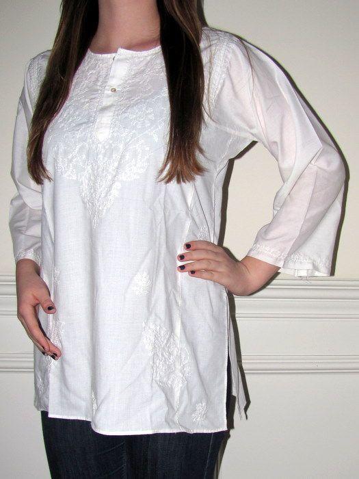 cotton blouses | ... Designer Tops Tunics Online, Women's Cotton Tunic Tops - Yours Elegan