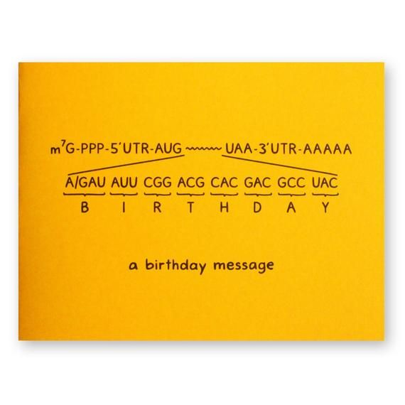 Funny Birthday Card for Science Lovers and Biologists