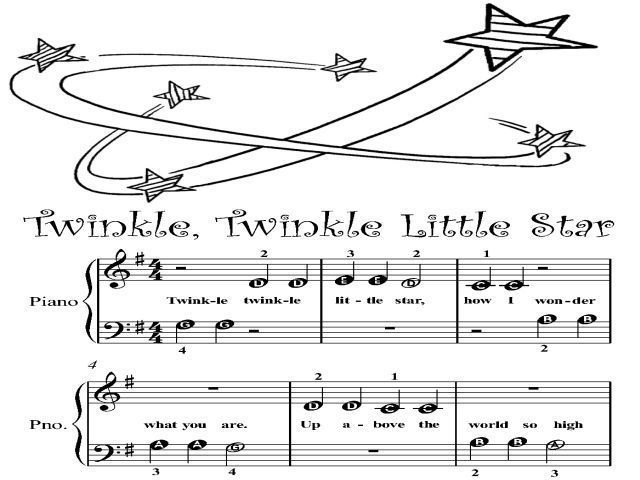 Piano Sheet Music for Beginners | ... Twinkle Little Star Beginner Tots Piano Sheet Music PDF For Sale