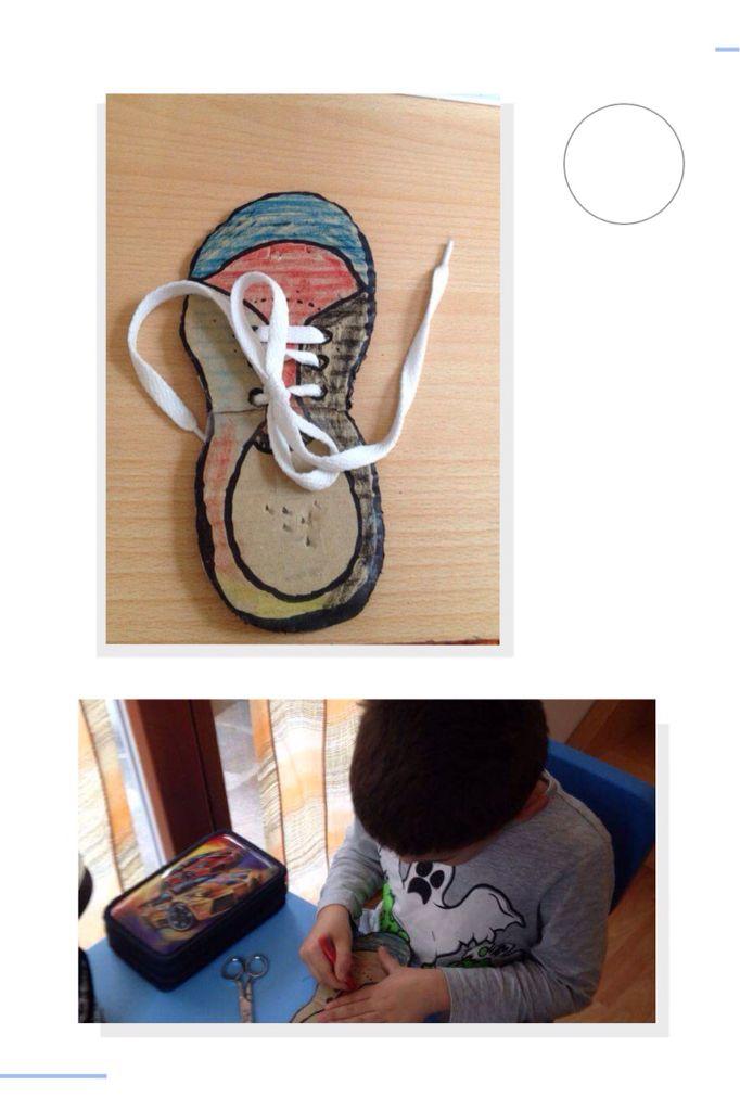 Imparo ad allacciare le scarpe metodo Montessori