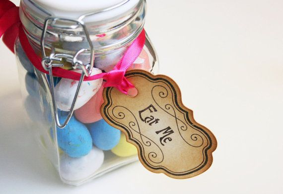 Cute idea to go with the alice in wonderland theme shower