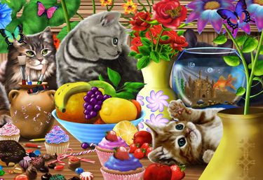 Curious Kittens Kid's Jigsaw Puzzle | New Jigsaw Puzzles | Vermont Christmas Co. VT Holiday Gift Shop