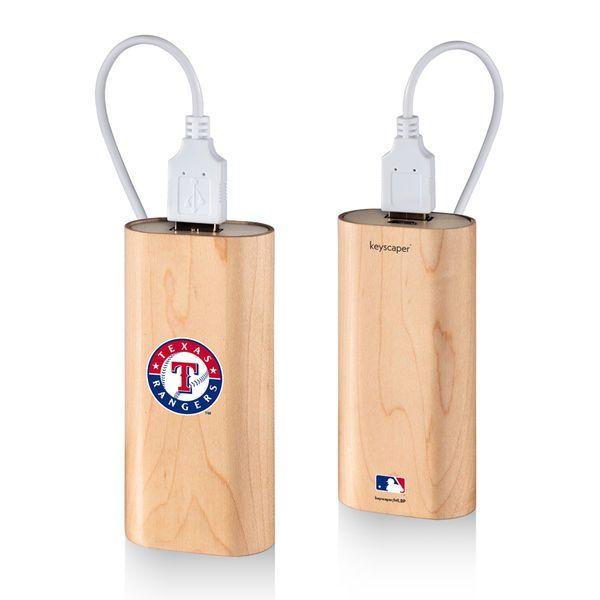 Texas Rangers 4000 mAh Wood Power Bank - $39.99