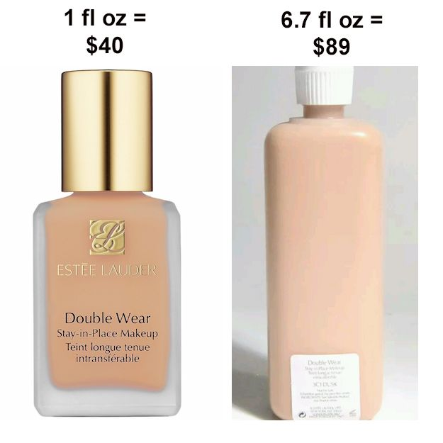 Buy the professional size foundation. A one-ounce bottle of Estee Lauder Double Wear foundation is $45 from the store. The 6.7-ounce professional size is $89 on eBay from beauty sellers. | 32 Genius Tricks That Will Save Makeup Addicts A Ton Of Money