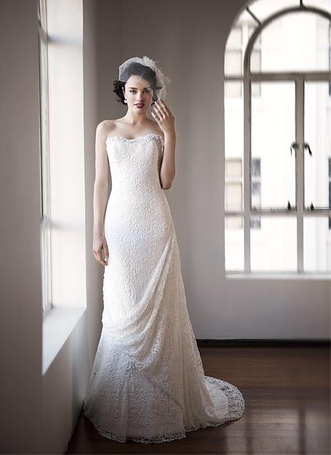 Modern Vintage Wedding Dress :: Pearl Bridal Collection