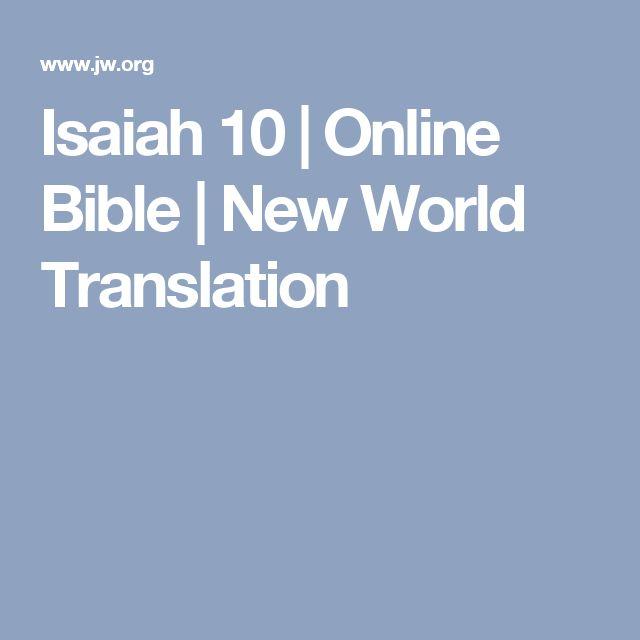Isaiah 10 | Online Bible | New World Translation