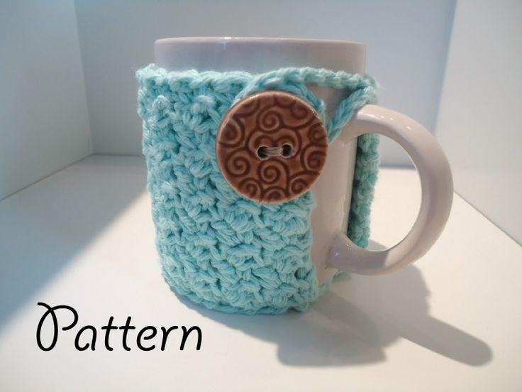 Love Me Do Crochet Blog: Crochet Textured Coffee Mug Cozy Pattern - Free