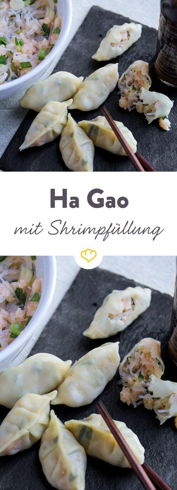 Ha Gao – Gedämpfte Teigtaschen mit Shrimp-Füllung