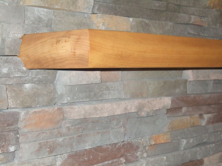 mantel solid piece of wood with fireplace stone surround - Steinplatte Kamin Surround