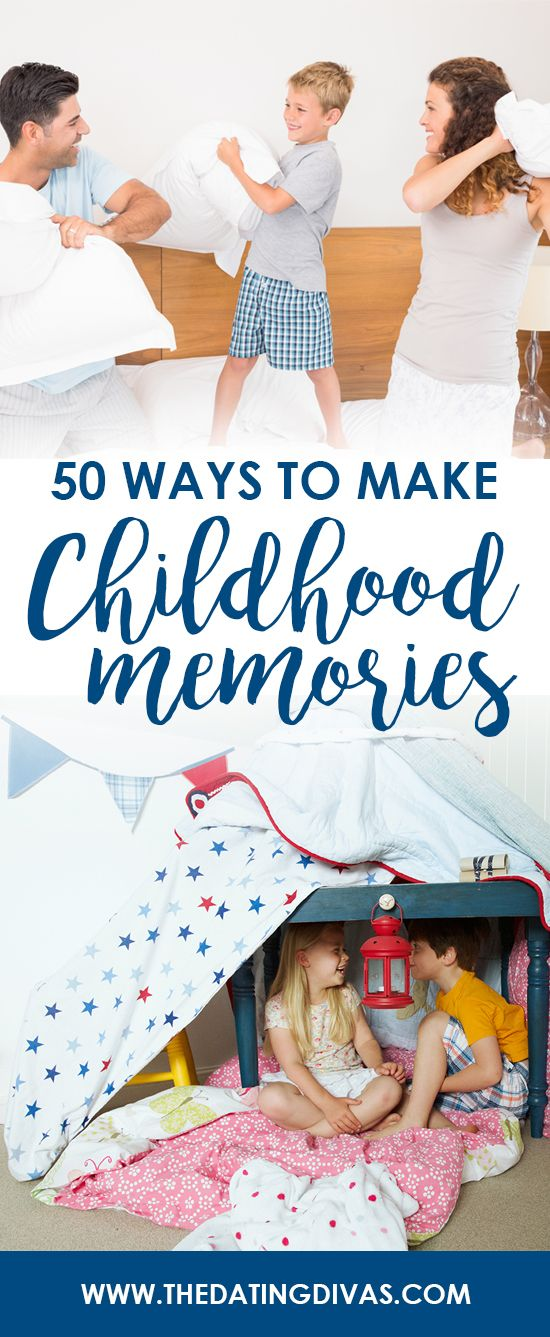 These fun family ideas are sure to help me make lasting memories with my kids! LOVE these exciting activities!! - www.TheDatingDivas.com
