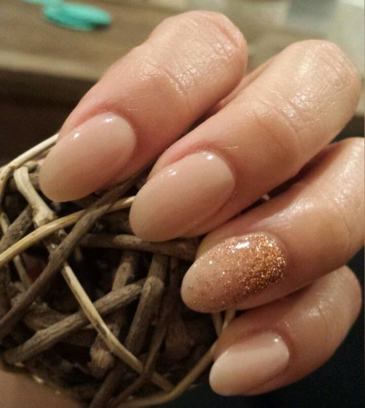 Almond SNS manicure, perfect look for me & keeping my nails short but cute :]