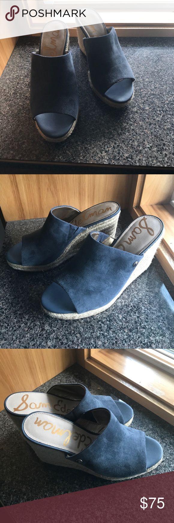 NWT Sam edleman shoe NWT never worn Sam edleman shoe. Blue Suede Sam Edelman Shoes
