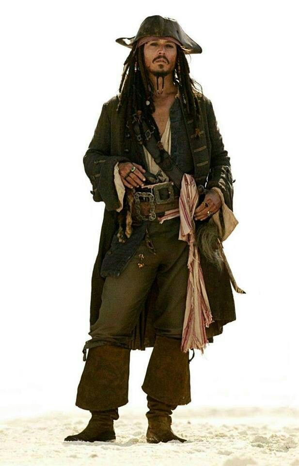 Captain Jack Sparrow captain of the Black Pearl in the Pirates of the Caribbean film series