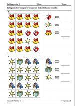 Tæl og skriv hvor mange af hver figur som findes i billederne herunder.