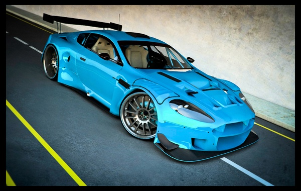 Aston Martin DBR9... Surely, I would kill myself in this!