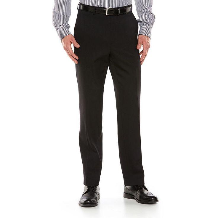 Men's Chaps Performance Slim-Fit Suit Pants, Size: 33X30, Black