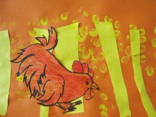 poule rousse a fait pousser de beux épis de blé