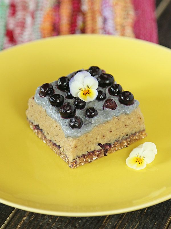 Heavenly Rawfood Cake - Made of Cashews, Almonds & Blueberries.