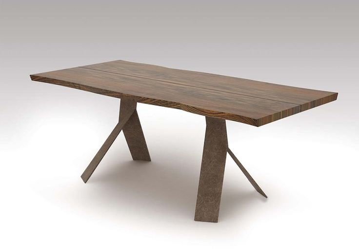 """Modern 77"""" Solid Wood Desk or Conference Table with Solid Steel Legs"""