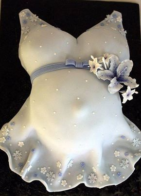 Beautiful pregnant woman cake for baby showers!!