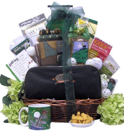 Great Arrivals Golf Gift Basket, Hole in One - http://mygourmetgifts.com/great-arrivals-golf-gift-basket-hole-in-one/