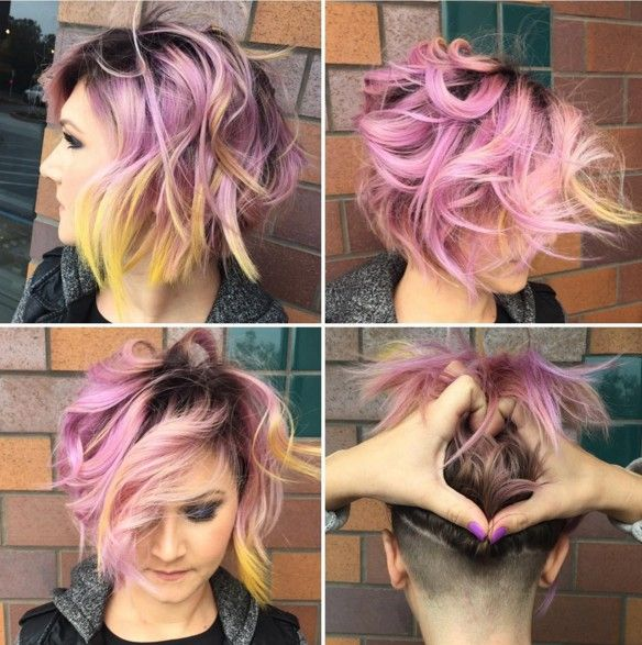30 Stylish Short Hairstyles: Curly, Wavy, Straight Hair: #14. Messy, Layered Bob Hair Cuts